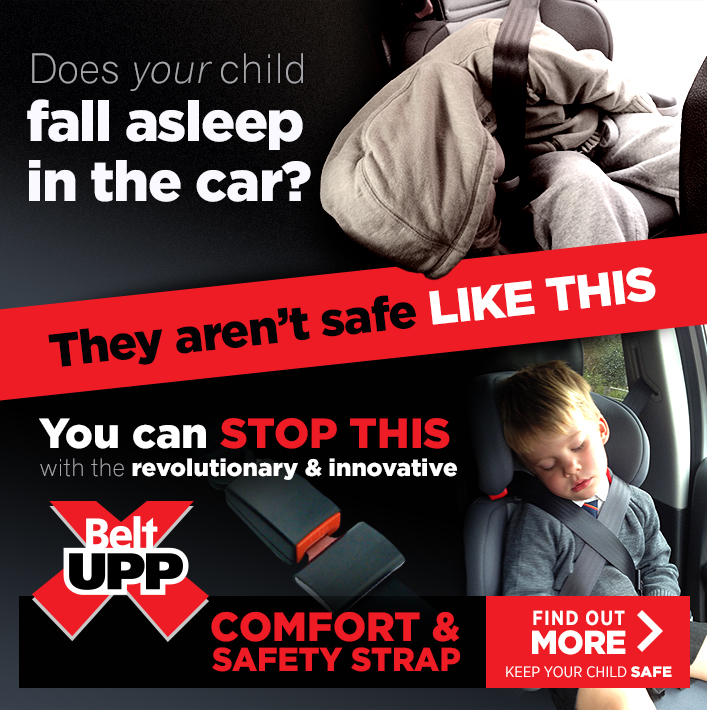 Does Your Child Fall Asleep in the car? Are they save like this? You can stop this with the revolutionary & innovative BeltUpp